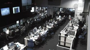 View inside the control room at NASA's Wallops Flight Facility in Virginia, site of July 13's Antares rocket launch. Credit: NASA
