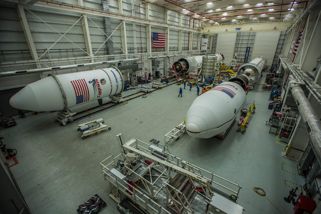 NG-10 and NG-11 Antares rockets at Wallops HIF