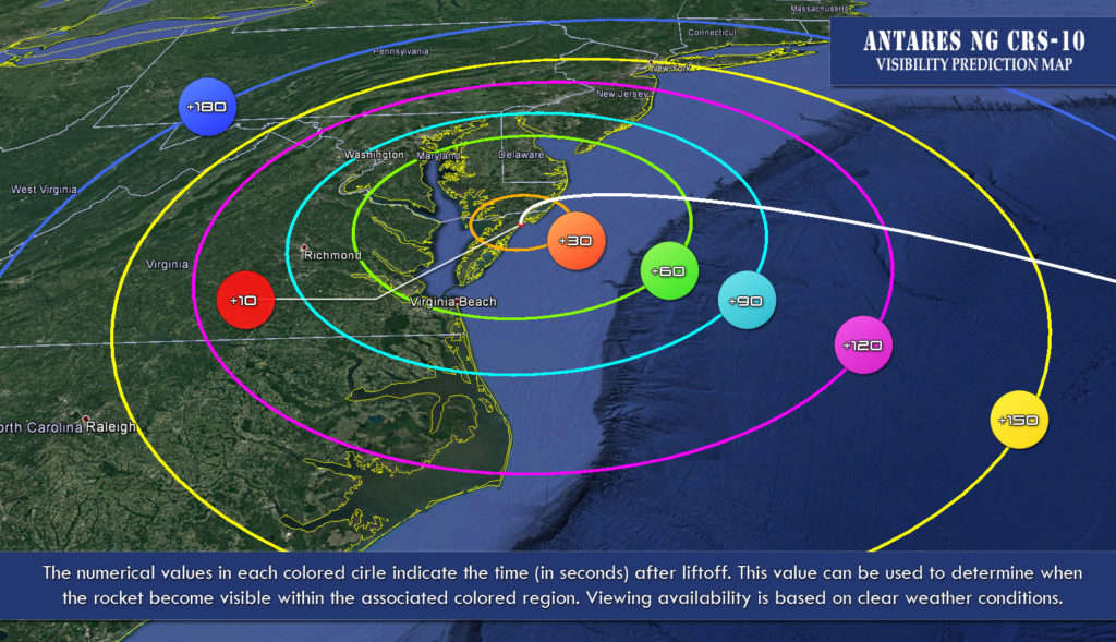 launch viewing map for NG-10
