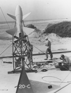 The first research rocket launched from Wallops Island was Tiamat on July 4, 1945.