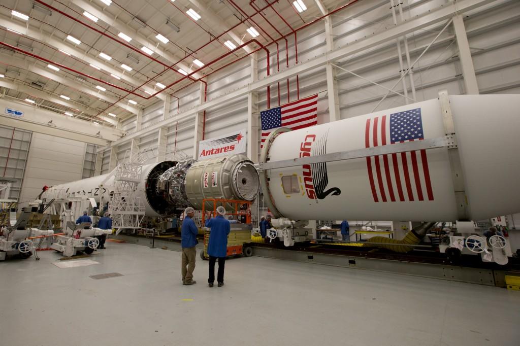 Fairing installed on Antares rocket