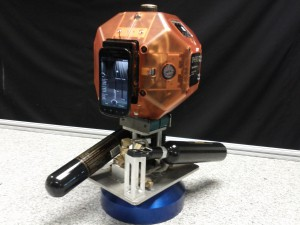 Photo of Smart SPHERES, a prototype free-flying space robot headed to the International Space Station aboard Orb-2's Cygnus. Credit: NASA