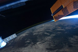 Perseid meteor as seen from ISS in 2011