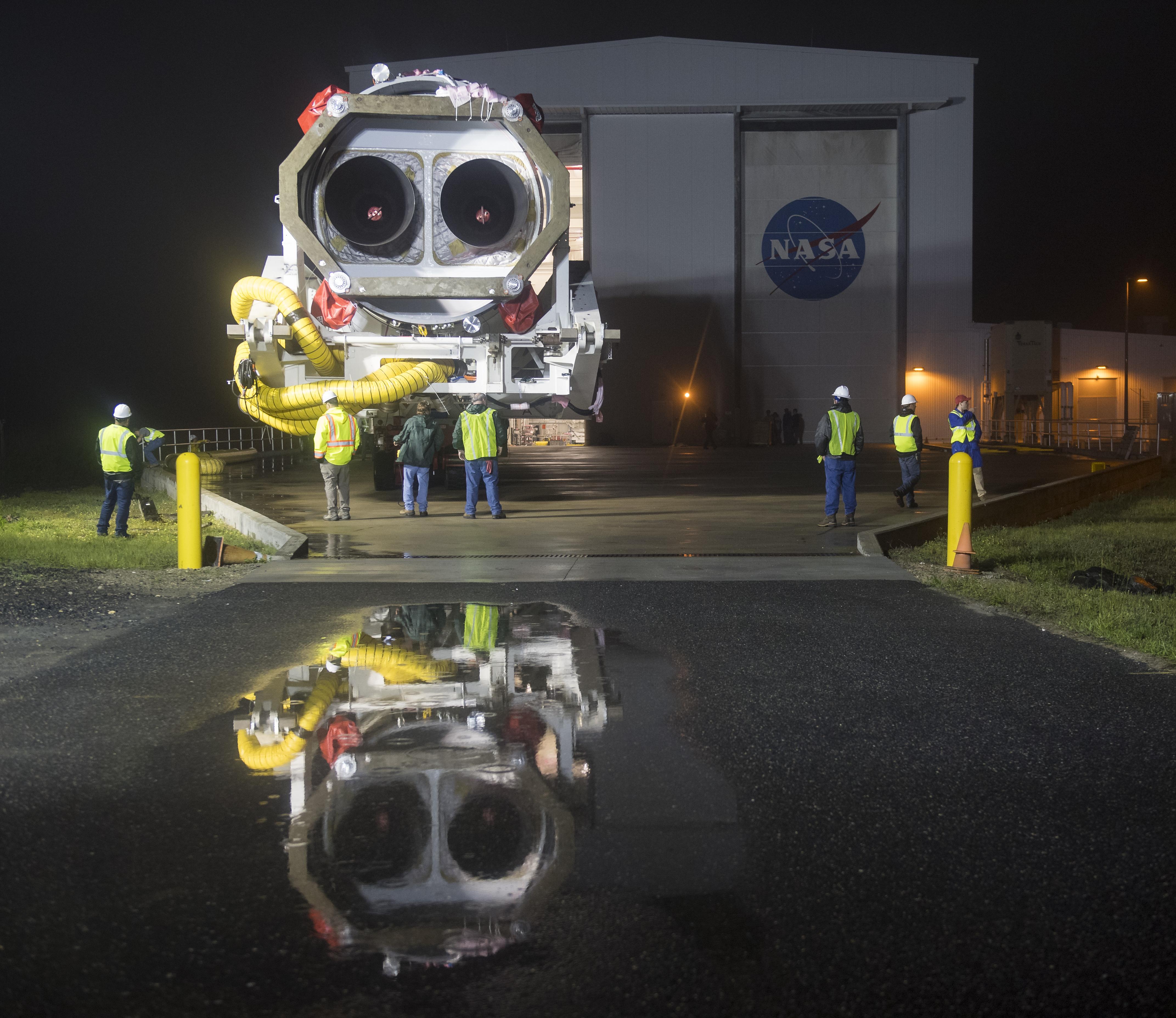 May 17 Antares Rolls to Launchpad Orbital