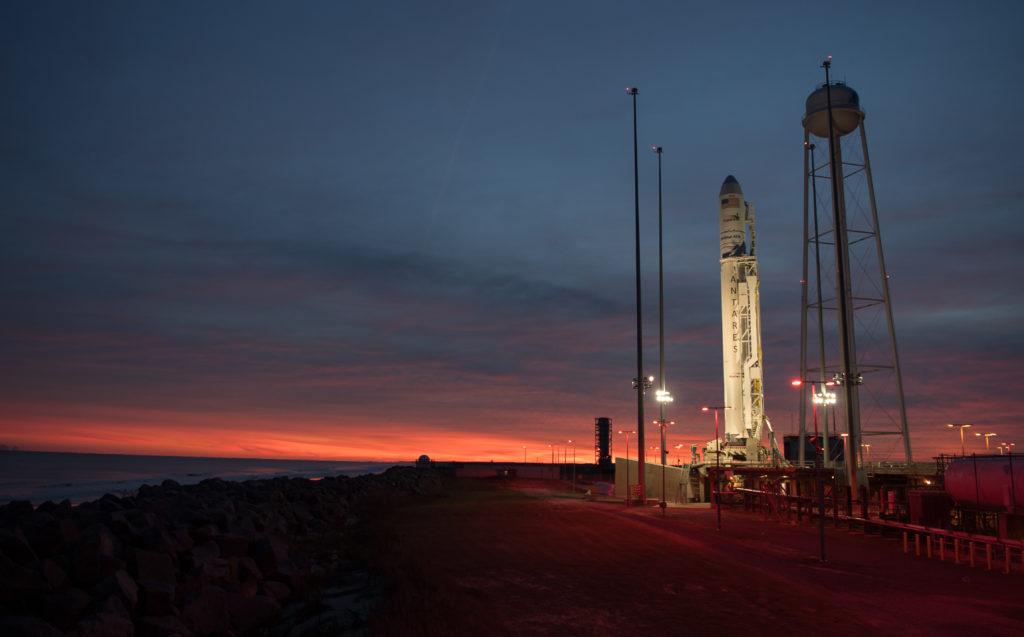Orbital ATK Antares rocket at launchpad