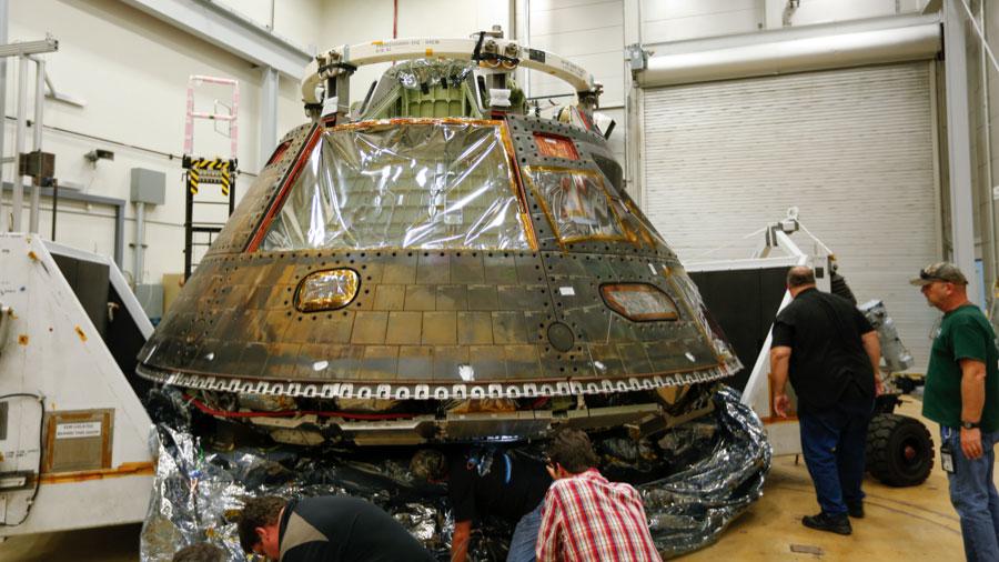 Engineers Examine Orion