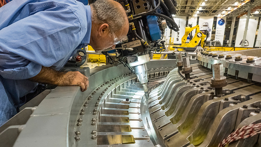 technicians Weld Together Orion