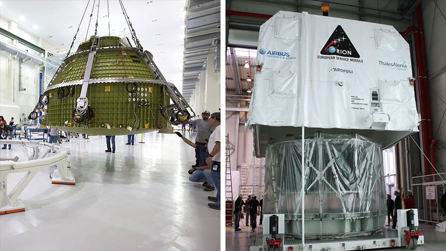The Orion Crew Module and Service Module