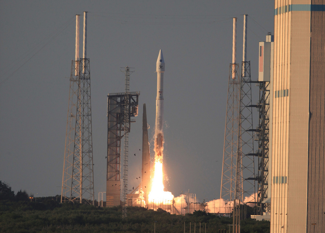 Liftoff of the Atlas V carrying NASA's OSIRIS-REx spacecraft