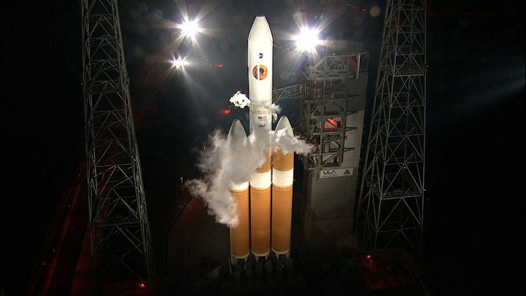 The ULA Delta IV Heavy rocket is on Space Launch Complex-37 with NASA's Parker Solar Probe.