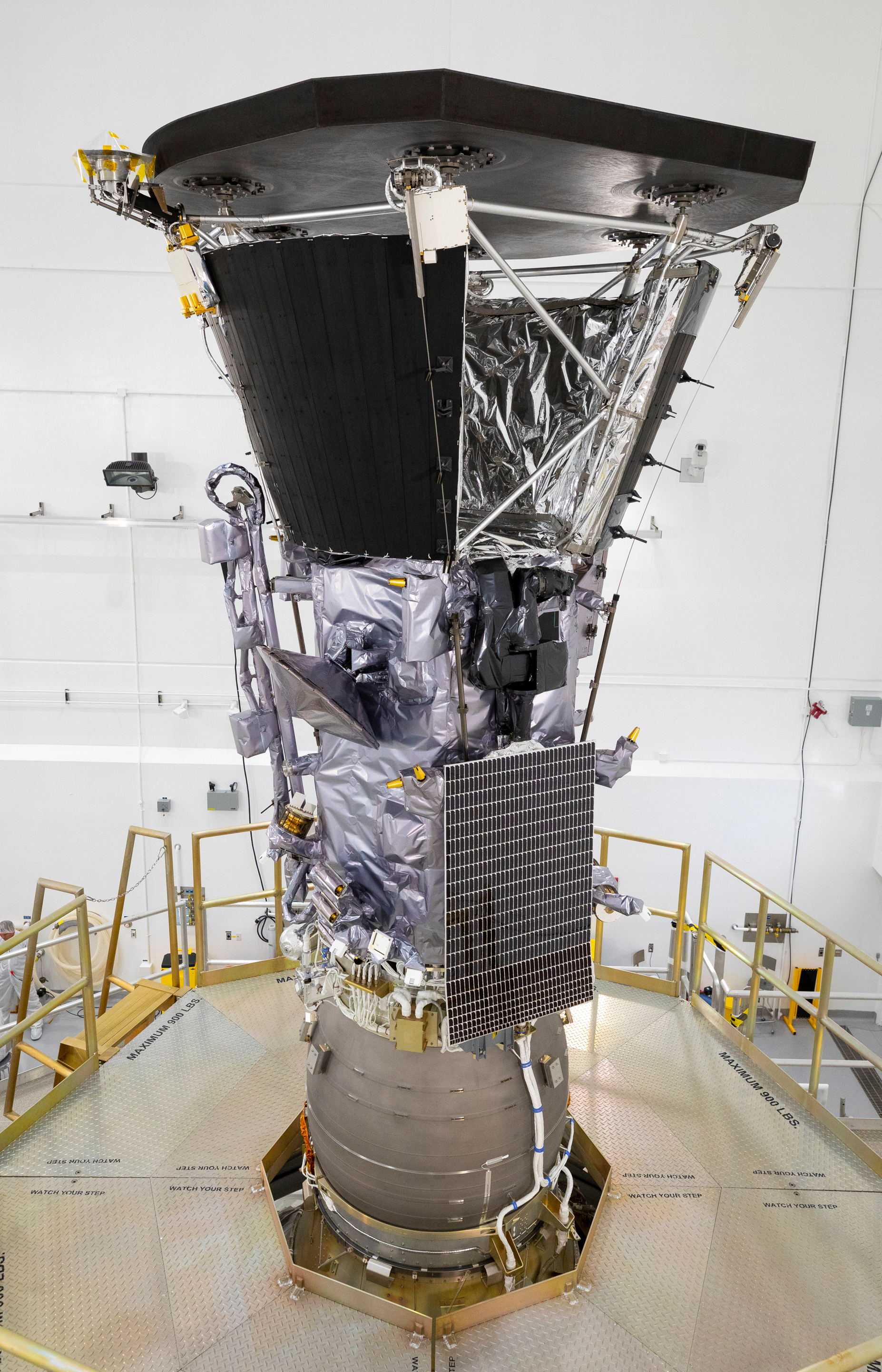 Parker Solar Probe Blue Star Cold Room Wiring Diagram Nasas Is Shown Here Mated To Its Third Stage Rocket Motor On July