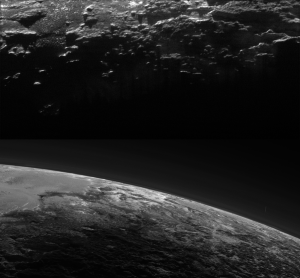 Pluto's shadows and haze