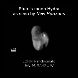 Pluto's Moon Hydra as seen by New Horizons