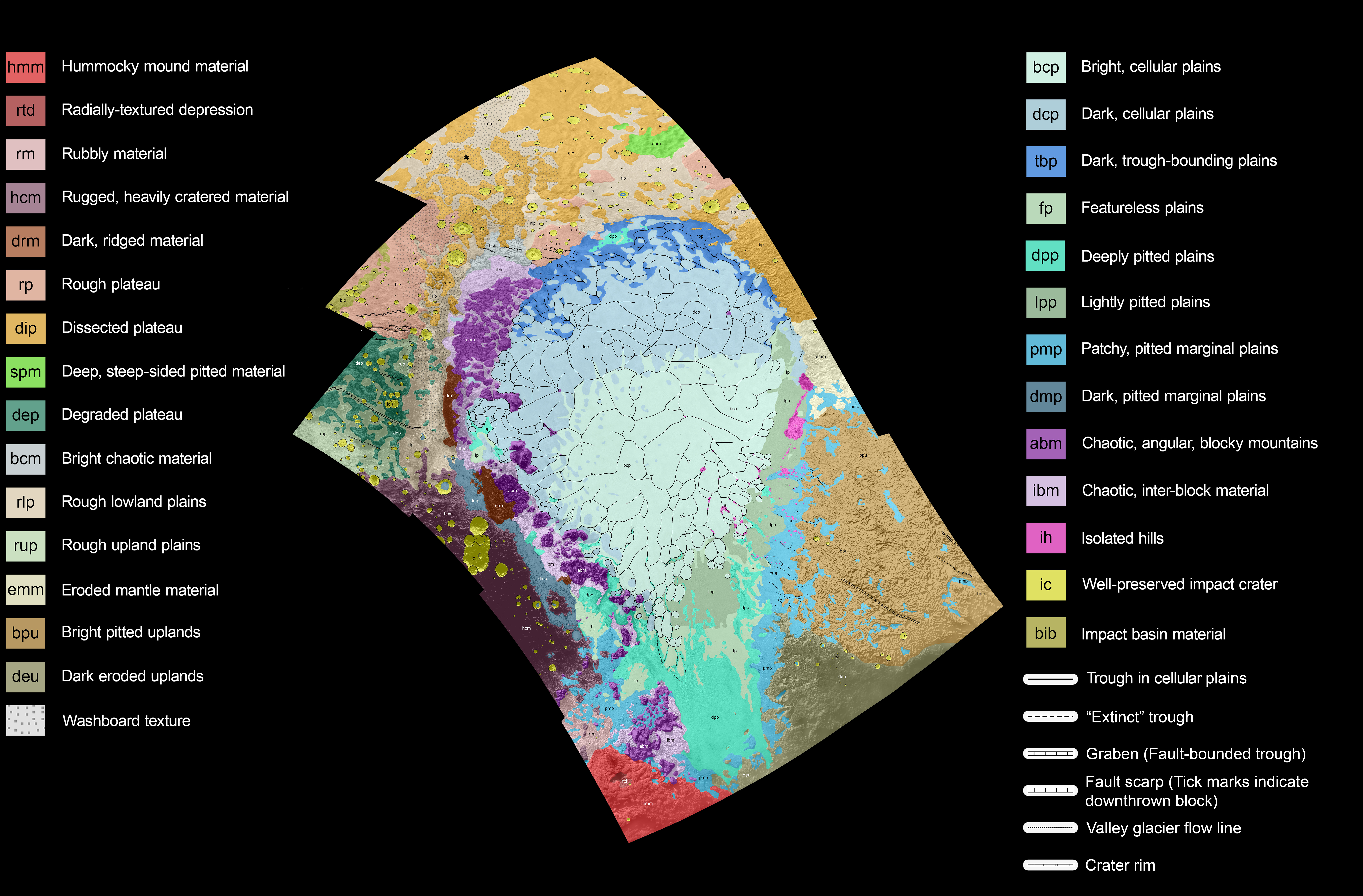 Pluto Geologic Map