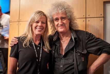 Laurie Cantillo with Brian May