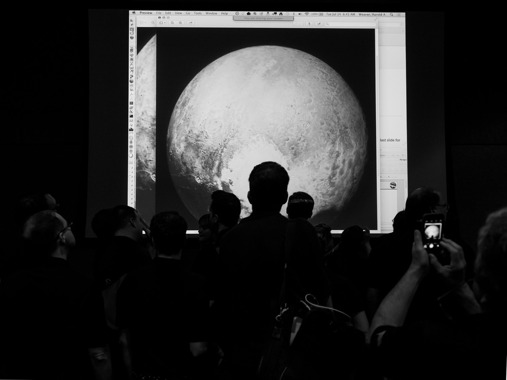 New Horizons team woke up earlier than normal to get our eyes on the highest-resolution global images that had been taken about 14 hours earlier