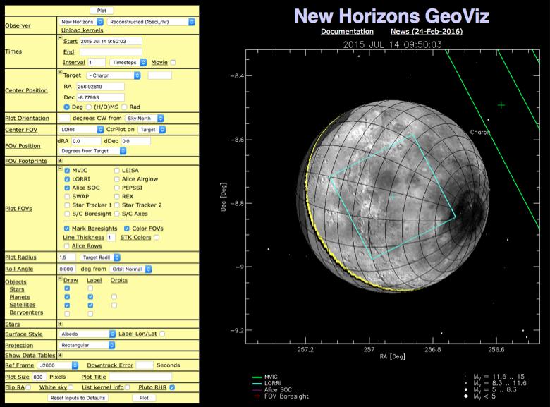 New Horizons GeoViz