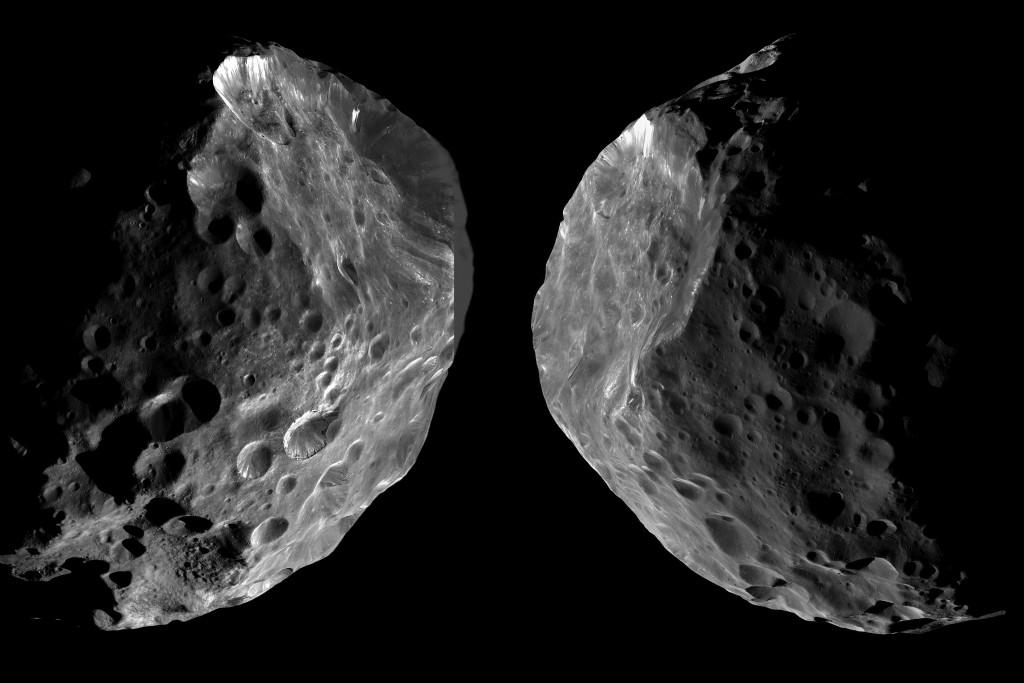 Saturn's moon Phoebe may be similar to JR1. Credits: NASA/JPL-Caltech/SSI