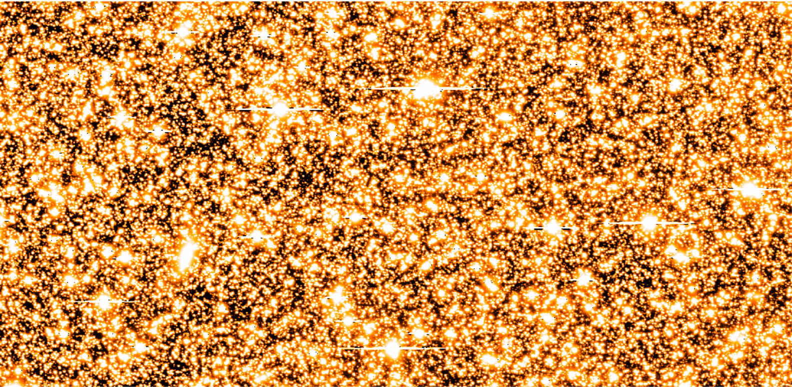 A small subsection of a single Magellan survey image