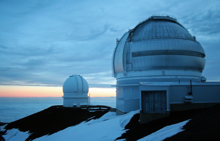Canada-France-Hawaii-Telescope and the Gemini North observatory