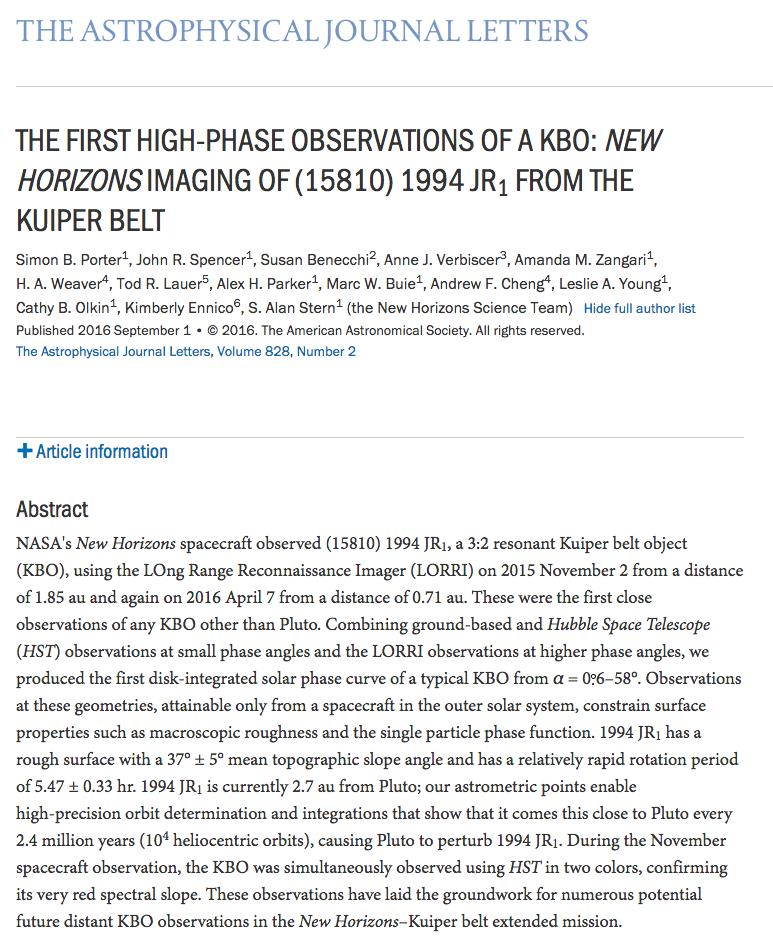 astrophysical journal letters exploring pluto and a billion beyond pluto new 20518