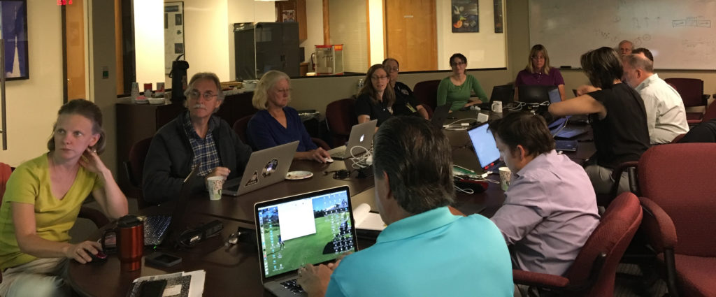 People at the MU69 flyby planning meeting.