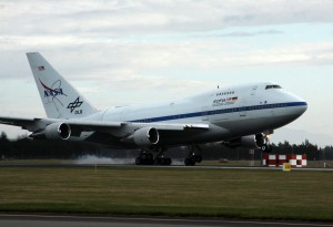 SOFIA landing at Christchurch International Airport on Sunday, June 14. Photo: NASA/USRA/SOFIA/N. Veronico