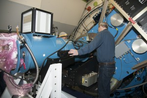 The FLITECAM and HIPO instruments getting installed on SOFIA's telescope. Photo: NASA/Carla Thomas