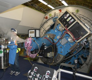 SOFIA's instruments are cooled with liquid helium. Photo: NASA/Carla Thomas