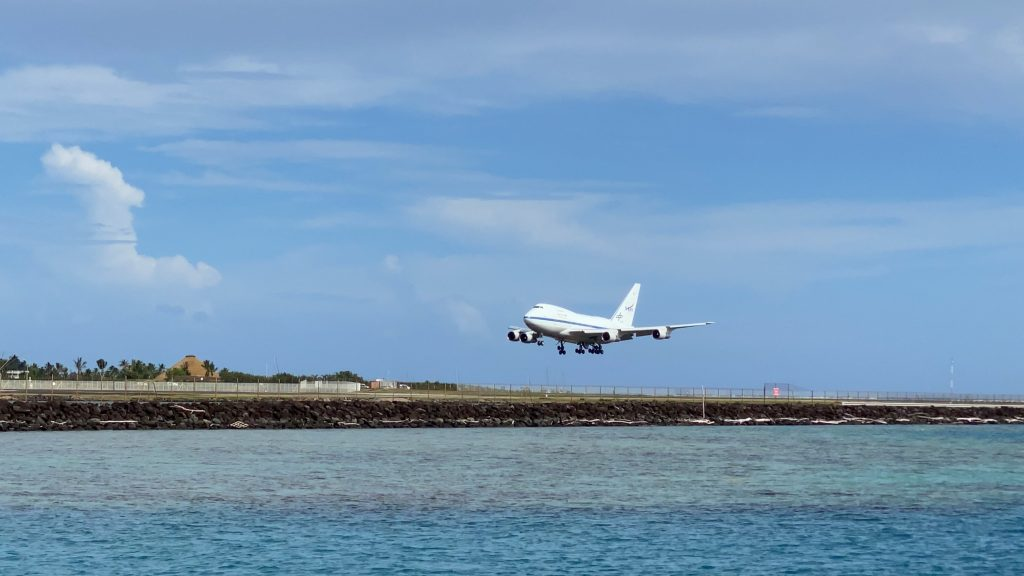 SOFIA landing in French Polynesia