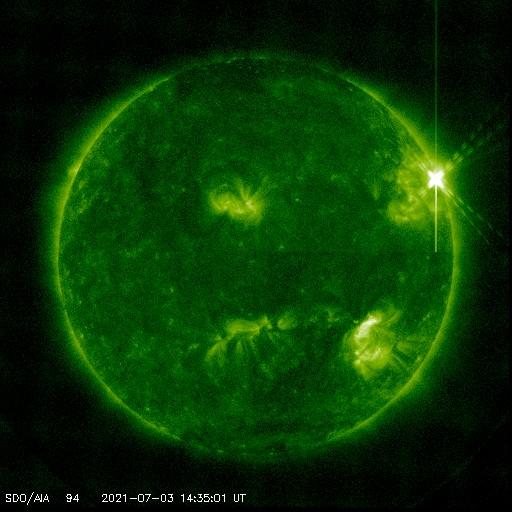 image of solar flare