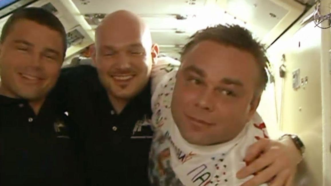 세 우주비행사의 작별인사