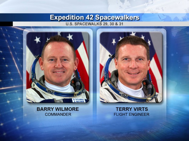 Virts, Wilmore Ready For Third Spacewalk in Eight Days