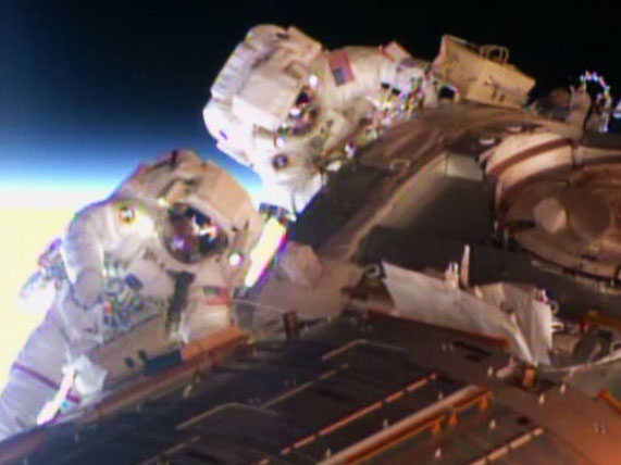 Spacewalkers Barry Wilmore and Terry Virts