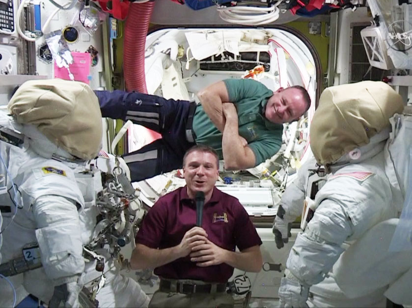 Spacewalkers Terry Virts and Barry Wilmore