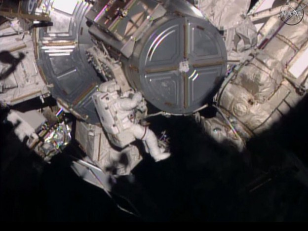 Virts and Wilmore Complete Spacewalk Trilogy