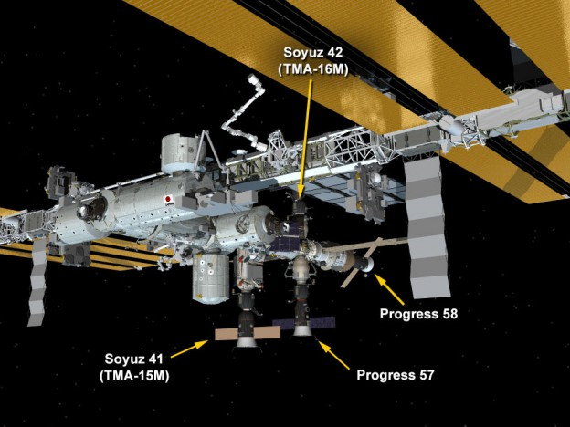 One Year Crew Arrives at Station
