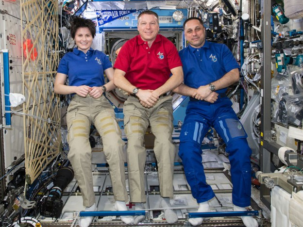 Medical Checks on Station While New Trio Preps for Launch