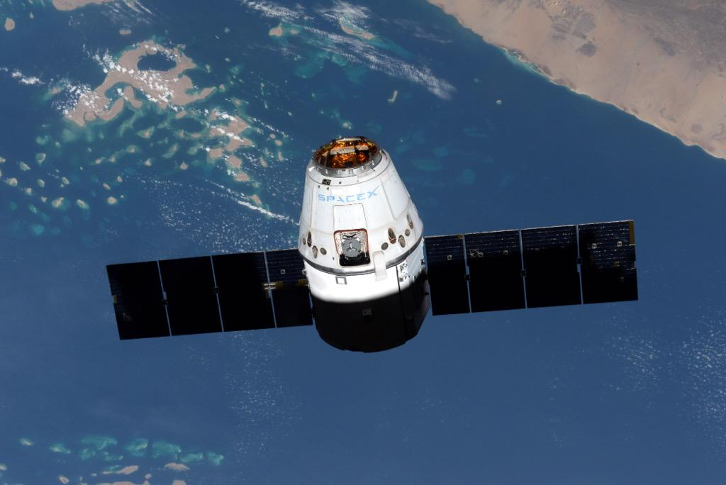 The SpaceX Dragon arrives