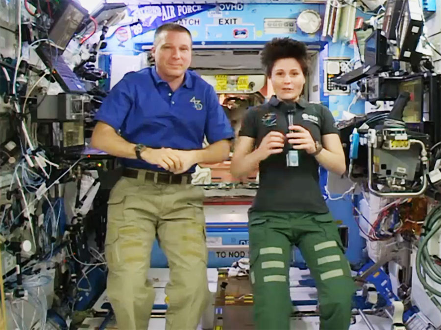 Astronauts Terry Virts and Samantha Cristoforetti