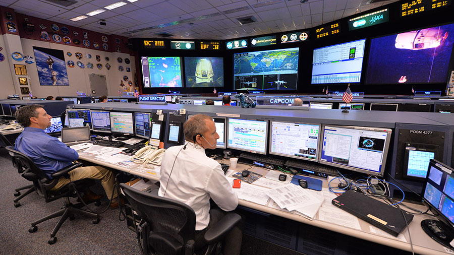 NASA mission controllers