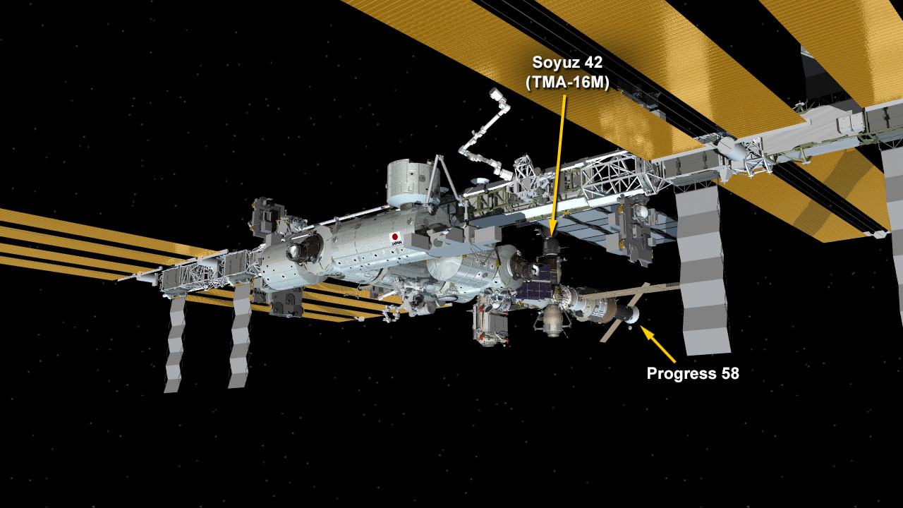There are currently two spacecraft docked to the International Space Station