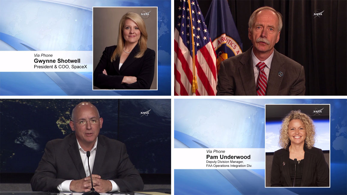Managers from SpaceX, NASA and the FAA discussed the SpaceX rocket anomaly Sunday afternoon.