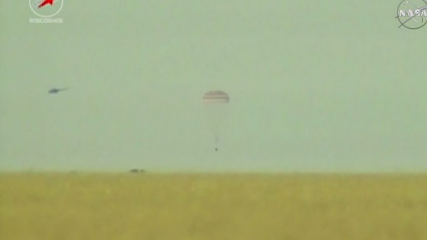 Soyuz Crew Returns Home after 199 Days in Space