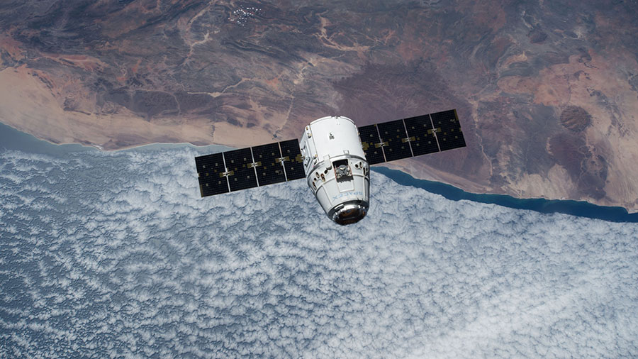 The SpaceX Dragon cargo spacecraft