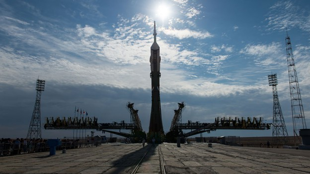 Crew Continues On Orbit Research as New Rocket Rolls Out