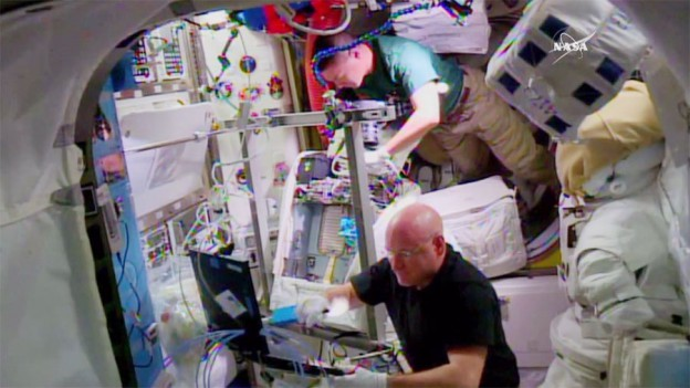Astronauts Scott Kelly and Kjell Lindgren