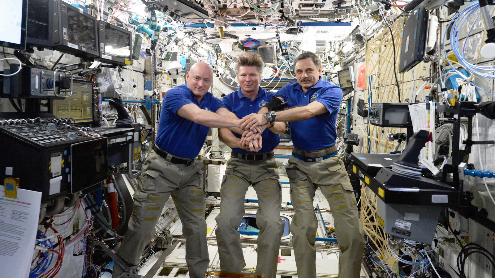 Expedition 44 trio