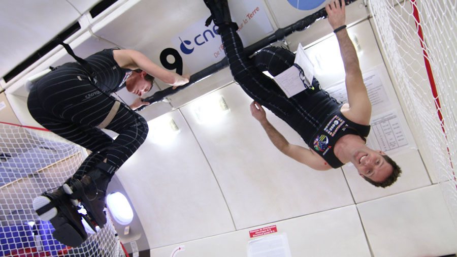 European Astronaut Thomas Pesquet Tests Skinsuit