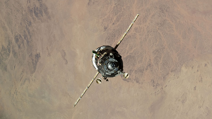 Soyuz Spacecraft Relocates